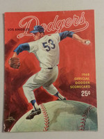 1968 Dodgers Game Program vs Astros (40 pg) Scored July 23 - Osteen vs Cuellar (LA 3-1, HR Bailey) Excellent [Scored neatly in pencil; lt wear on both covers, contents clean]