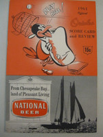 1961 Orioles Program vs Athletics (28 pg) Unscored Near-Mint [Very lt wear on cover - feels uncirculated]