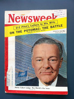 1960 Newsweek August 8 Henry Cabot Lodge (Small tear on cover) Fair to Poor There is a small tear on the cover