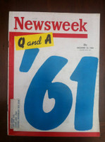 1960 Newsweek December 12 Questions and Answers - 1961 Very Good