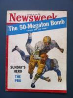 1961 Newsweek October 30 Sunday NFL Football (Cover split and detached) Fair to Poor Cover is split and detached, contents fine