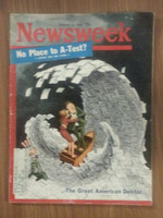 1962 Newsweek January 8 Great American Debtor Very Good