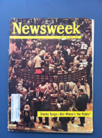 1963 Newsweek April 29 Stocks Surge - But Where's the Public Good to Very Good