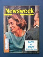 1963 Newsweek August 26 Nelson Rockerfeller (Cover is torn) Fair to Good There is major tearing on the cover that does not effect the contents