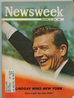 1965 Newsweek November 15 Lindsay Wins New York Excellent