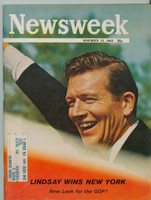 1965 Newsweek November 15 Lindsay Wins New York Very Good
