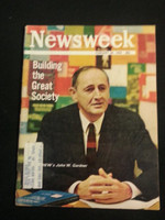 1966 Newsweek February 28 Building the Great Society Very Good to Excellent