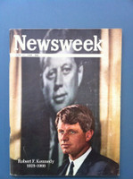 1968 Newsweek June 17 Robert F. Kennedy - In Memorium Good to Very Good Just a bit of scuffing on the cover, an important relic of the 60s
