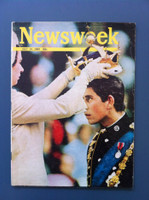 1969 Newsweek July 14 Prince Charles and Queen Elizabeth Good to Very Good Just a bit of scuffing on the cover, an important relic of the 60s