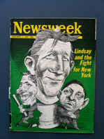 1969 Newsweek November 3 John Lindsay (binding nearly completely torn) Fair to Poor Binding is torn and barely attached, contents fine