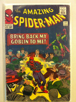Spiderman #27 Green Goblin Aug 65 Fair to Good Heavy cover creasing; contents ok