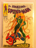 Spiderman #62 Medusa Jul 68 Fair to Good Heavy wear on cover; staple rust, creasing; contents readable