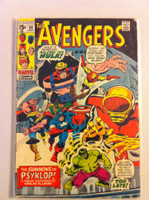 The Avengers #88 Summons of Psyklop May 71 (Story by Harlan Ellison) Good to Very Good Heavy scuffing, creasing on cover; contents fine