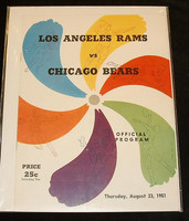 1951 NFL Program Rams vs Bears Aug 23 1951 Excellent to Mint