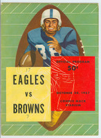 1957 NFL Program Eagles vs Browns Oct 20 1957 Excellent