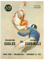 1952 NFL Program Eagles vs Cardinals Nov 16 1952 Excellent