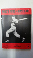 1942 Who's Who in Baseball Joe DiMaggio Very Good to Excellent [Very minor wear, crease on cover; lt stain on edges and reverse; contents very clean]