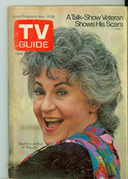 1972 TV Guide Nov 18 Bea Arthur of Maude (First Cover) Eastern New England edition Excellent - No Mailing Label  [Lt wear on cover; contents fine]