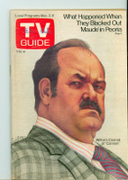 1973 TV Guide Mar 3 William Conrad of Cannon Eastern Illinois edition Near-Mint - No Mailing Label  [Very clean, puzzle clean]