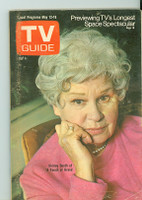1973 TV Guide May 12 Shirley Booth in A Touch of Grace Eastern New England edition Very Good - No Mailing Label  [Wear on cover, scuffing and creasing; contents fine]