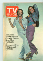 1973 TV Guide July 14 Sonny and Cher New Orleans edition Very Good - No Mailing Label  [Wear on cover, scuffing and creasing; contents fine]