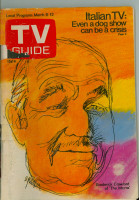 1971 TV Guide March 6 Broderick Crawford (Cover Loose) Cleveland edition Fair to Poor - No Mailing Label  [Scuffing on cover, loose at the staples, tears on binding]