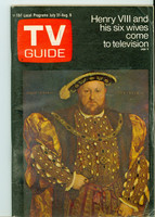 1971 TV Guide July 31 Henry VIII Oregon State edition Very Good to Excellent - No Mailing Label  [Lt wear on cover, ow clean]