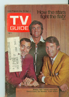 1971 TV Guide August 28 Monday Night Football Iowa edition Very Good to Excellent  [Wear, scuffing on both covers; contents fine]