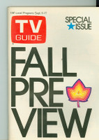 1971 TV Guide September 11 Fall Preview Washington-Baltimore edition Excellent to Mint - No Mailing Label  [Very clean, sl crease on reverse cover]