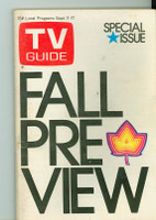 1971 TV Guide September 11 Fall Preview NY Metro edition Very Good - No Mailing Label  [Sl loose at staples, lt wear on cover; contents fine]