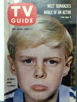1960 TV Guide Mar 5 Jay North as  Dennis the Menace Hazleton-Williamsport edition Very Good to Excellent - No Mailing Label  [Wear, scuffing and lt creasing on cover; contents fine]