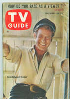 1960 TV Guide Jun 4 Darren McGavin of Riverboat Chicago edition Fair to Good - No Mailing Label  [Tape on cover, heavy creasing; contents fine]