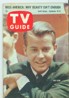 1960 TV Guide Sep 10 Dick Clark Oregon State edition Excellent - No Mailing Label  [Lt wear on cover, scuffing along binding; contents fine]