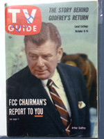 1960 TV Guide Oct 8 Arthur Godfrey Pittsburgh edition Very Good - No Mailing Label  [Lt wear on cover, creasing on cover; contents fine]