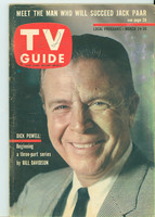 1962 TV Guide Mar 24 Dick Powell Oregon State edition Good to Very Good - No Mailing Label  [Wear on cover, # WRT in pencil in logo; contents fine]