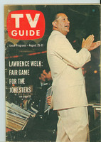 1962 TV Guide Aug 25 Lawrence Welk Oregon State edition Very Good - No Mailing Label  [Wear on cover; # WRT on logo, contents fine]