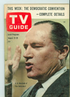 1964 TV Guide Aug 22 The Defenders Northern California edition Excellent - No Mailing Label  [Lt wear on cover; ow clean]
