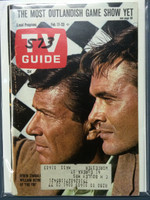 1968 TV Guide Feb 17 Efram Zimbalist and William Reynolds of the FBI Eastern New England edition Excellent  [Minor split on binding; scuffing on cover; # WRT on cover logo, contents fine]