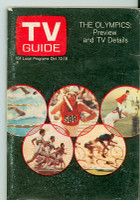 1968 TV Guide Oct 12 Olympics Preview Central California edition Very Good to Excellent - No Mailing Label  [Lt wear, scuffing on cover, contents fine]