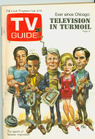 1969 TV Guide Feb 8 Cast of Mission Impossible - Cover by Jack Davis Western Illinois edition Excellent - No Mailing Label  [Lt wear on cover; contents fine]
