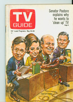 1969 TV Guide May 24 Today Show cast (Cover by Jack Davis) Eastern Illinois edition Very Good to Excellent - No Mailing Label  [Lt wear and scuffing on cover, ow clean]