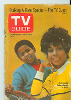 1969 TV Guide Jun 28 Julia Eastern Illinois edition Fair to Good - No Mailing Label  [Very loose at staples, sm tears on binding, creasing on cover; contents fine]
