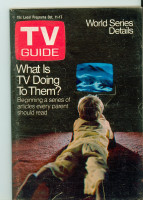 1969 TV Guide Oct 11 TV and Children Central California edition Excellent - No Mailing Label  [Lt toning along binding, sl cover wear; contents fine]