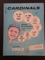 1962 Cardinals Yearbook Very Good to Excellent