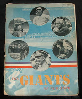 1947 Giants Yearbook Very Good