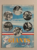 1947 Giants Yearbook Excellent