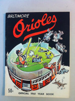1961 Orioles Yearbook Excellent