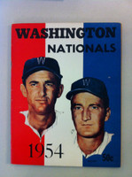 1954 Senators Yearbook (50 pg) Mickey Vernon Cover Excellent to Mint Sl wear along binding, ow clean, contents great