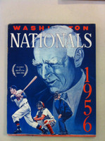 1956 Senators Yearbook (50 pg) Clark Griffith Cover Excellent to Mint Sl creases on cover, ow like new