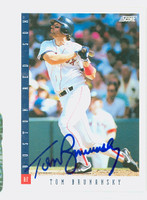 Tom Brunansky AUTOGRAPH 1993 Score Red Sox 